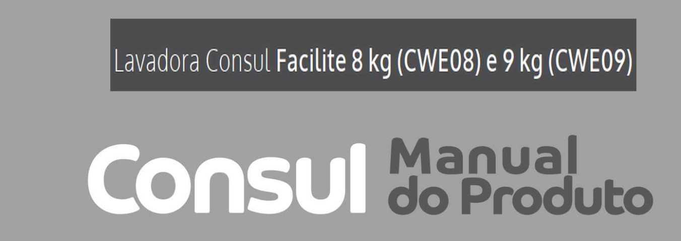 Manual de instruções da lavadora de roupas Consul CWE09