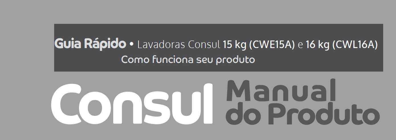 Lavadora de roupas Consul CWL16 - capa manual