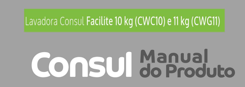 Manual de instruções da lavadora de roupas Consul CWG11