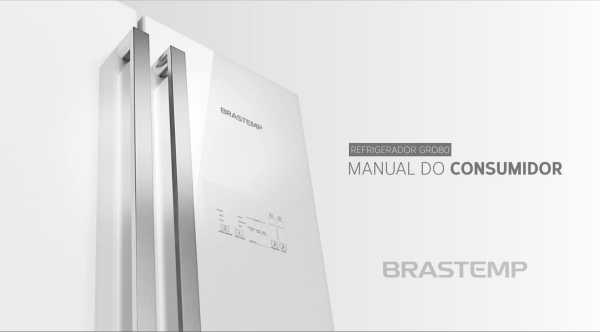 Manual de operação da geladeira Brastemp GRO80