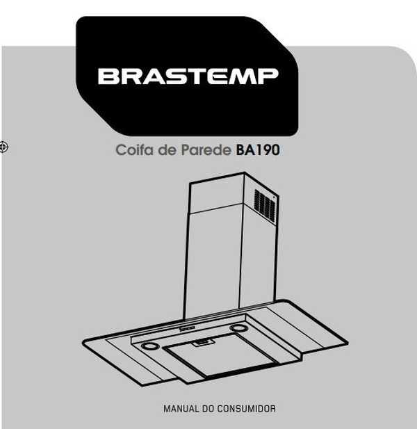 Manual de Operações da Coifa Brastemp 90 cm BA190