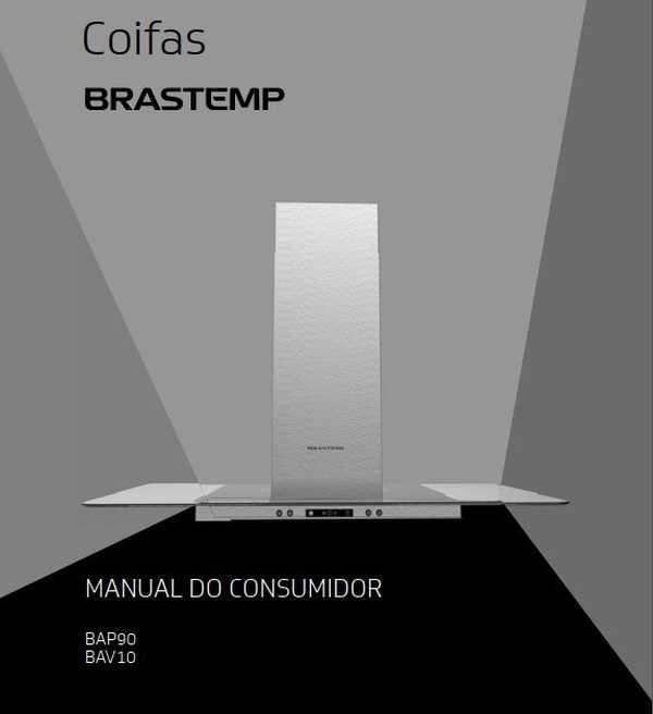 Manual de Operações da Coifa Brastemp 100 cm BAV10