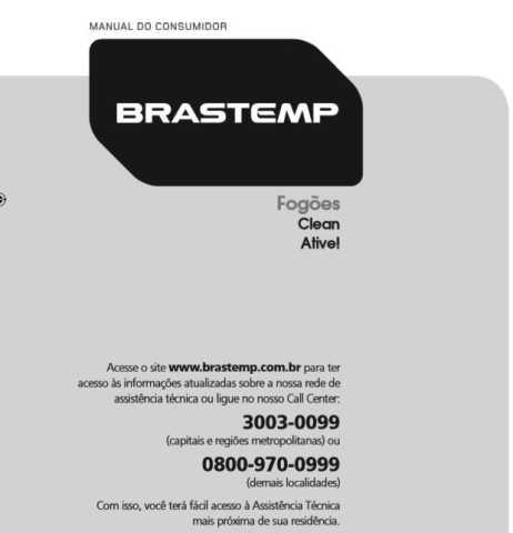 Manual de Operações do fogão Brastemp 4 bocas BF04N