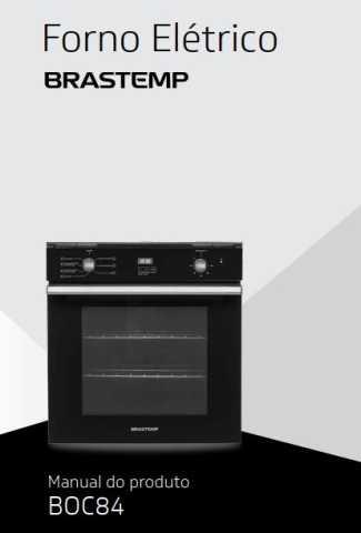 Manual de Operações do forno elétrico Brastemp BOC84