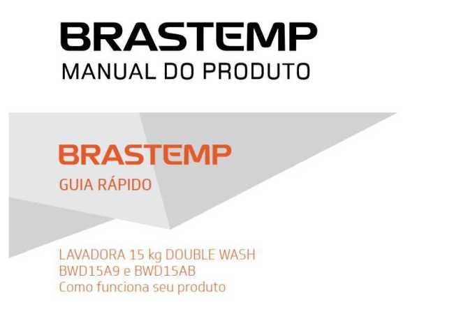 Lavadora de roupas Brastemp 15 kg - BWD15 - capa manual