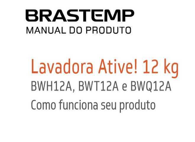 Lavadora de roupas Brastemp 12 kg - BWH12 - capa manual