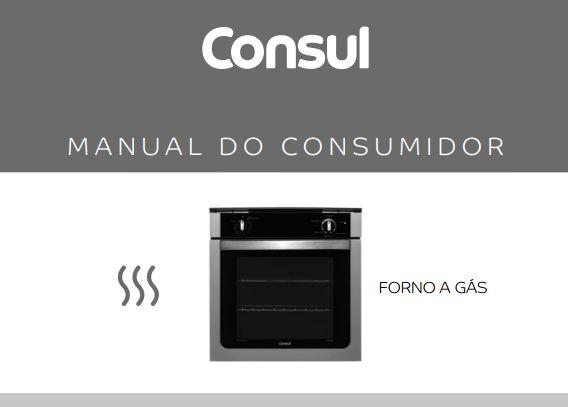 Manual de instruções do forno a gás Consul COA84
