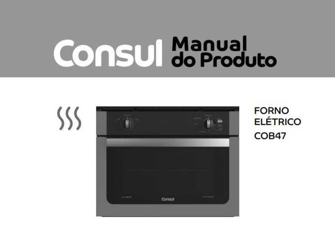Manual de instruções do forno elétrico consul cob47