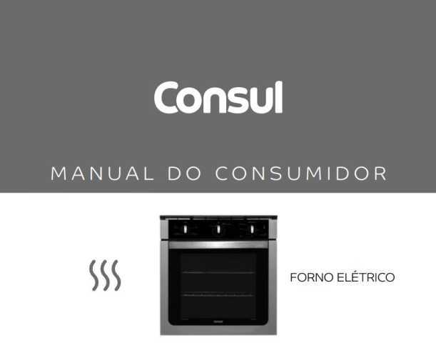 Manual de instruções do forno elétrico consul cob84