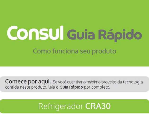 Manual de instruções da geladeira Consul CRA30