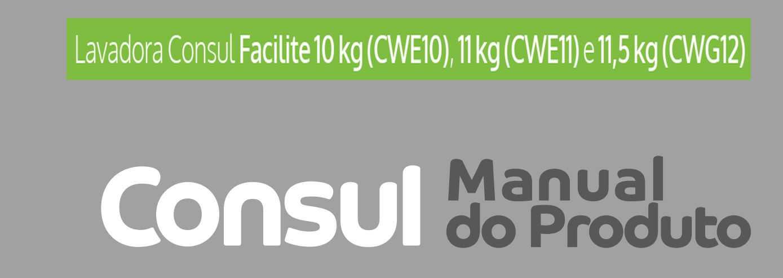 Manual de instruções da lavadora de roupas Consul CWG12