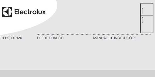 Manual de instruções da geladeira Electrolux 553 litros - DF82