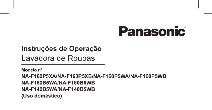 Manual de operação da lavadora de roupas Panasonic NA-F160