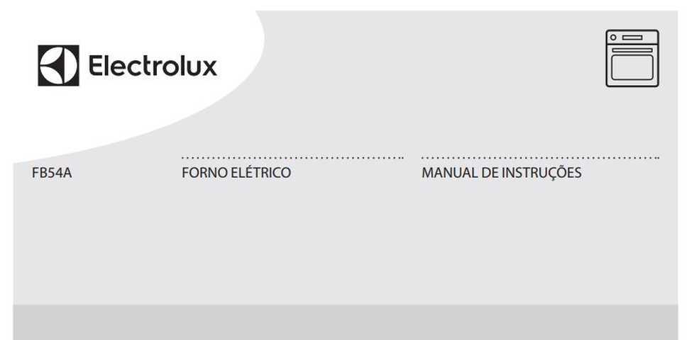 Manual de Instruções do forno elétrico Electrolux FB54A