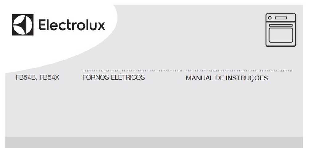 Manual de Instruções do forno elétrico Electrolux FB54B