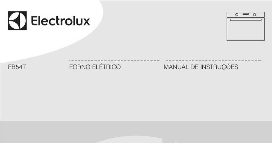 Manual de Instruções do forno elétrico Electrolux FB54T