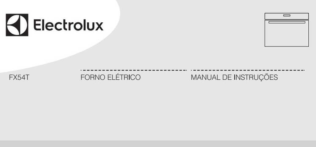 Manual de Instruções do forno elétrico Electrolux FX54T