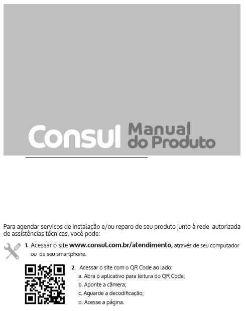 Manual de instruções da lava louças Consul