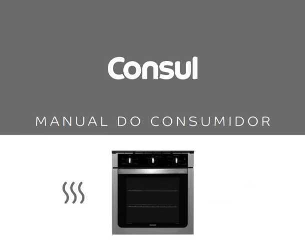 Manual de instruções do forno Consul