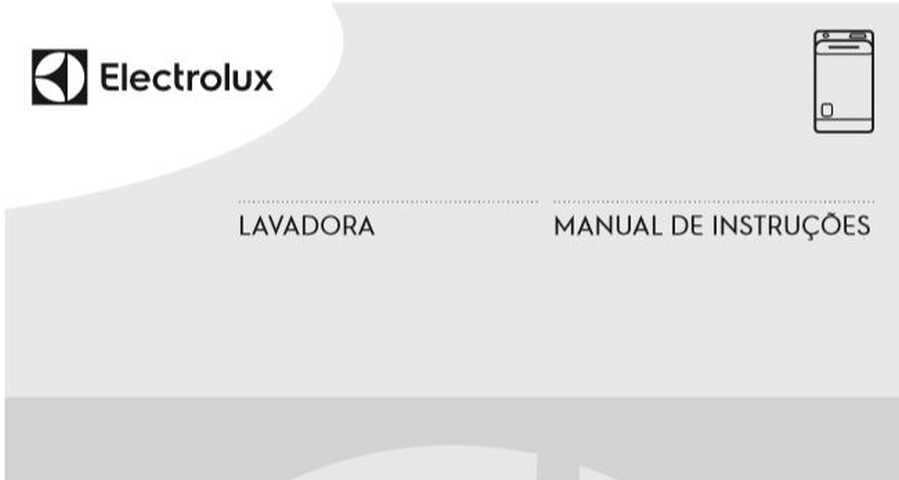 Manual de Instruções da lavadora de roupas Electrolux