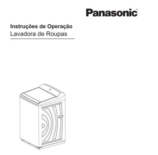 Manual de operação da lavadora de roupas Panasonic