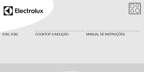 Manual de Instruções do cooktop de indução 4 zonas Electrolux IC80