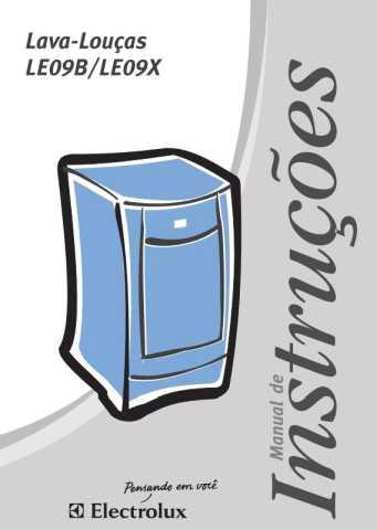 Lava Louças Electrolux  - capa manual