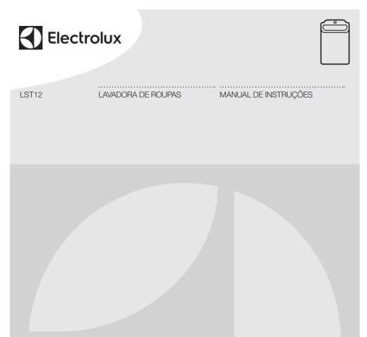 Manual de Instruções da lavadora e secadora Electrolux LST12