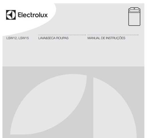 Manual de Instruções da lavadora e secadora Electrolux LSW15