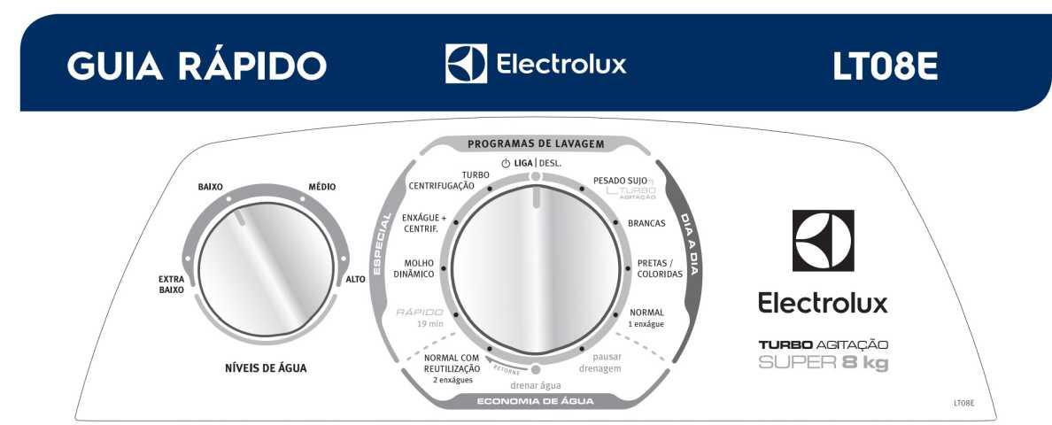 Lavadora de roupas Electrolux LT08E - capa manual