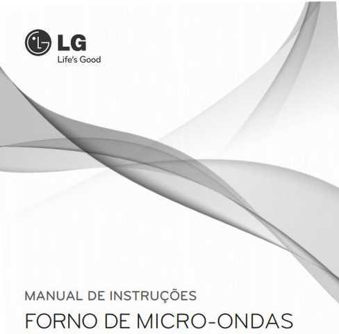 Manual de instruções de microondas LG