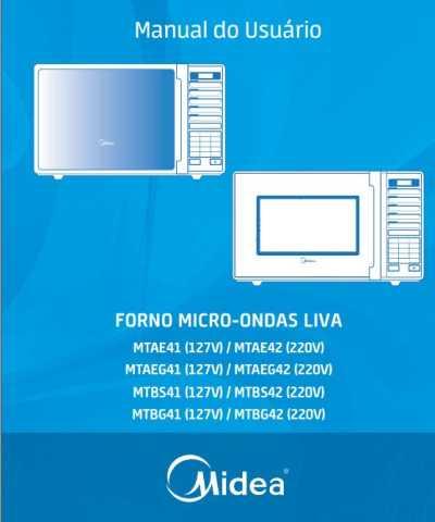Manual de instruções de microondas Midea 30 litros com grill MTAEG4