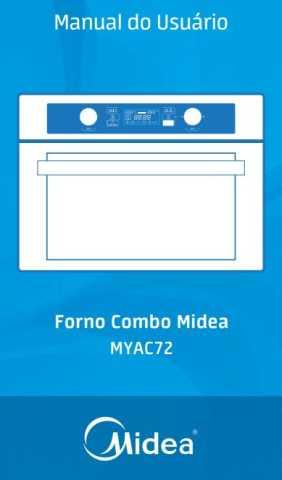 Manual de instruções de microondas Midea 45 litros de embutir MYAC72