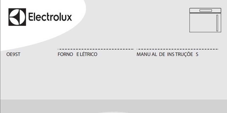 Manual de Instruções do forno elétrico Electrolux OE9ST