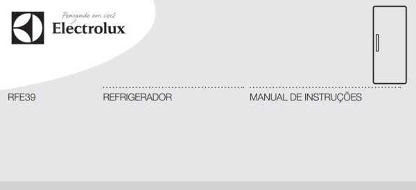 Geladeira Electrolux DM84X - capa manual