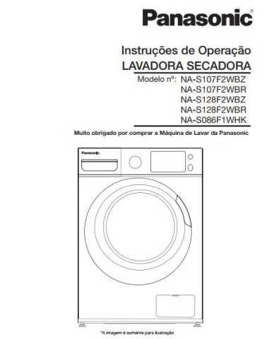 Manual de Instruções da lava e seca Panasonic NA-S128