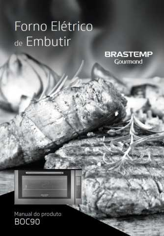 Manual de Operações do forno elétrico Brastemp BOC90