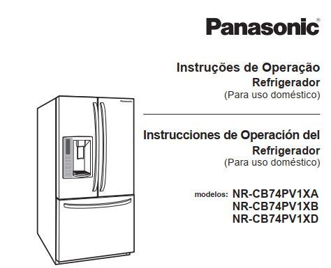 Manual de operação da geladeira Panasonic NR-CB74