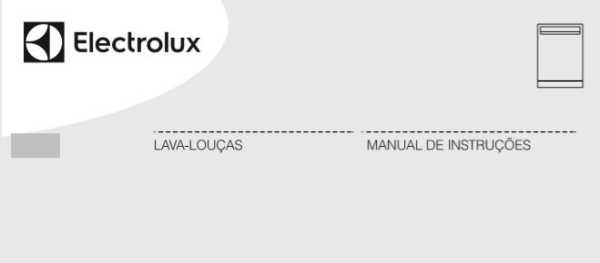 Manual de instruções da lava louças Electrolux