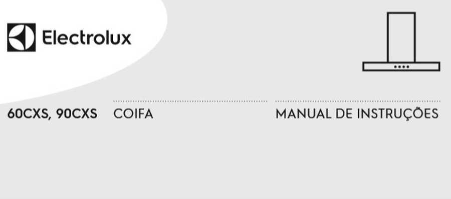 Manual de Instruções da Coifa Electrolux 60CXS