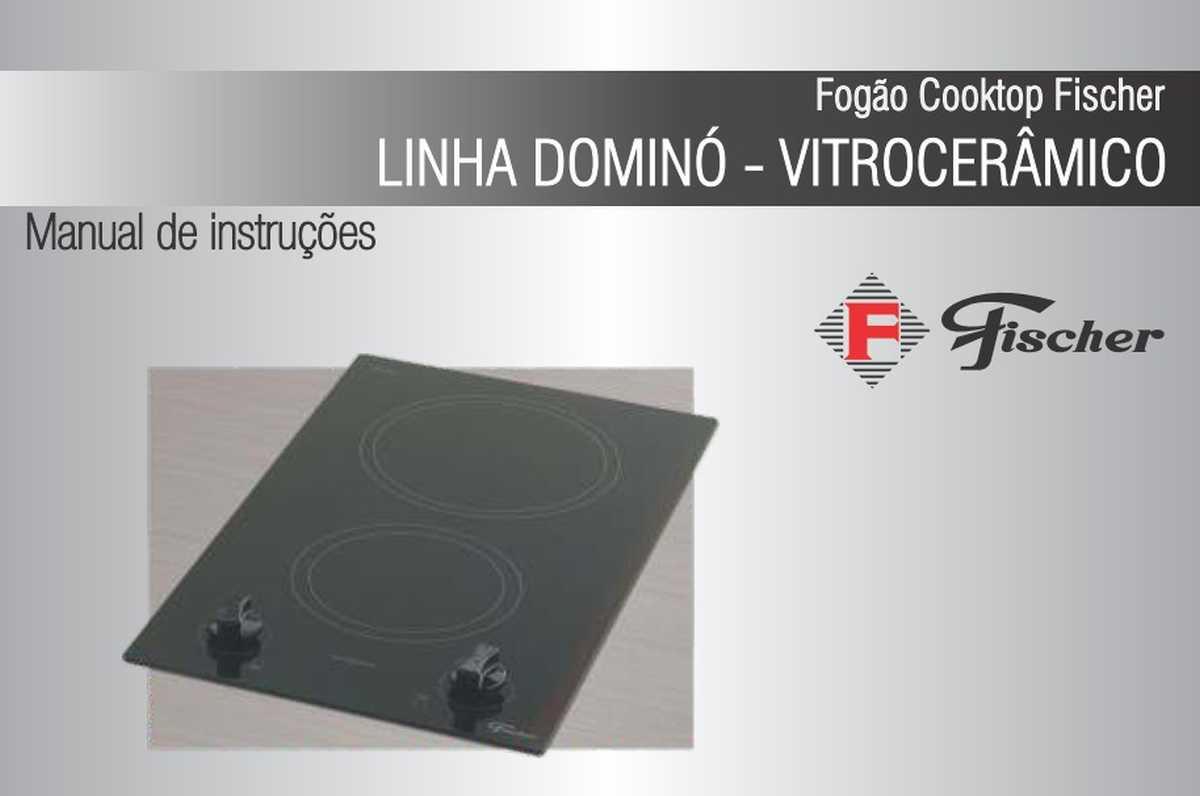 Cooktop elétrico Fischer- capa manual