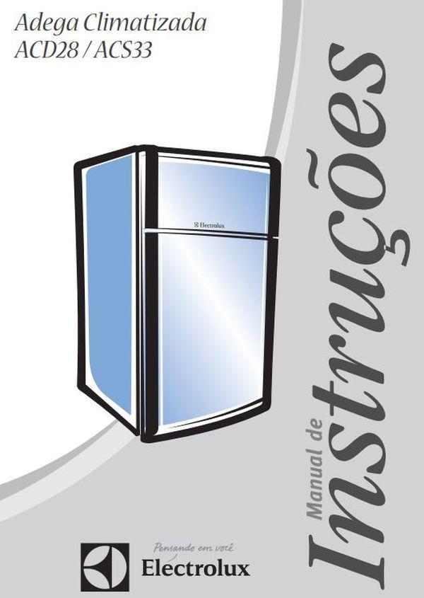 Manual de Instruções da Adega Electrolux ACS33
