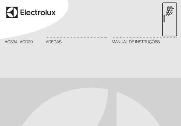 Adega Electrolux - capa manual