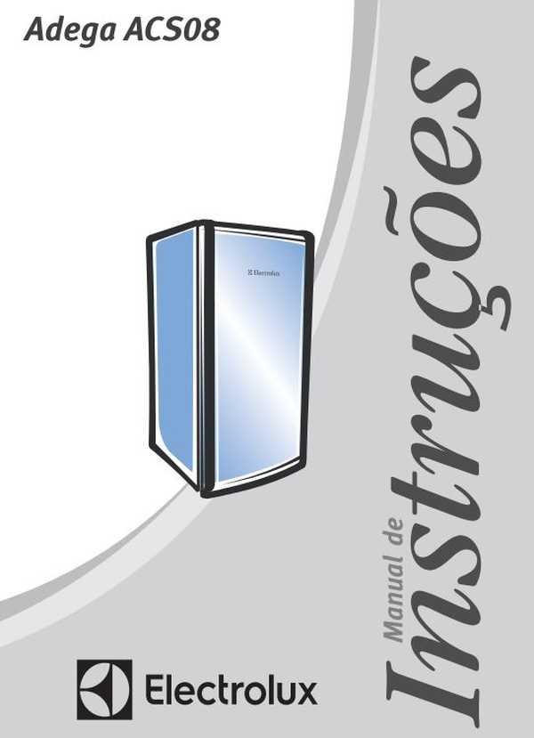 Manual de Instruções da Adega Electrolux ACS08
