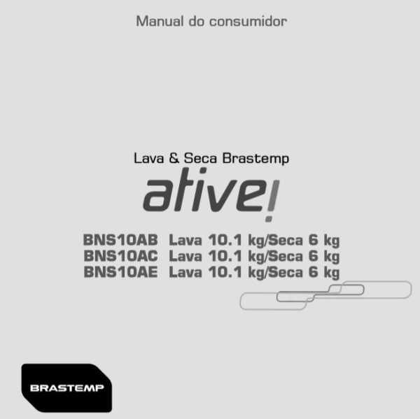 Manual de Operação da Lava e Seca Brastemp BNS10