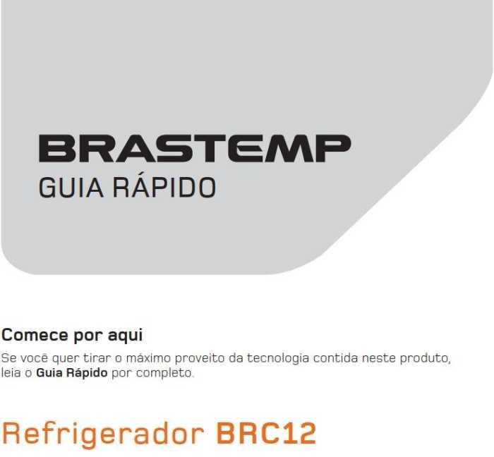 Manual de Operações do frigobar Brastemp BRC12