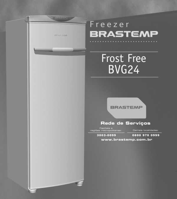 Freezer Brastemp - capa manual