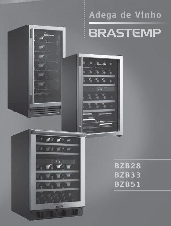 Manual de Operações da Adega Brastemp BZB33