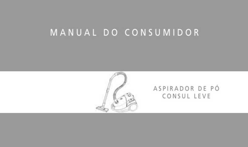 Manual de instruções do aspirador de pó Consul C7P13