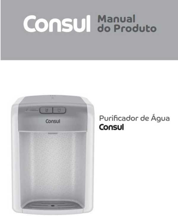 Manual de instruções do purificador de água Consul CPB34AB
